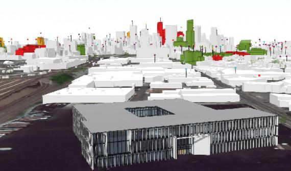 BIM visualisation of a building